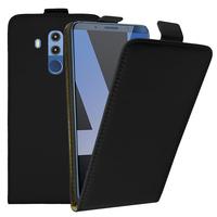 """Huawei Mate 10 Pro 6.0"""" BLA-L09/ L29/ AL00 (non compatible Mate 10 5.9""""): Accessoire Housse Coque Pochette Etui protection vrai cuir à rabat vertical - NOIR"""