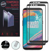 "OnePlus 5T A5010 6.01"" (non compatible OnePlus 5 A5000 5.5""): Lot / Pack de 2 Films de protection d'écran Verre Trempé"