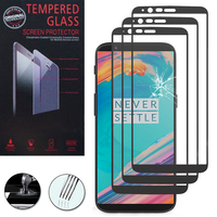 "OnePlus 5T A5010 6.01"" (non compatible OnePlus 5 A5000 5.5""): Lot / Pack de 3 Films de protection d'écran Verre Trempé"
