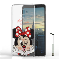 "Samsung Galaxy A8 (2018) A530F 5.6""/ A8 (2018) Duos A530F/DS: Coque Housse silicone TPU Transparente Ultra-Fine Dessin animé jolie + mini Stylet - Minnie Mouse"