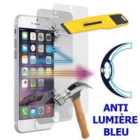 """Apple iPhone 7 4.7"""" (non compatible iPhone 7 Plus 5.5''): Lot/ Pack de 2 Films Écran Verre Trempé Anti Lumière Bleu"""