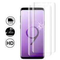 """Samsung Galaxy S9 5.8"""": Lot/ Pack de 2 Films en Verre Trempé Bord Incurvé Resistant"""