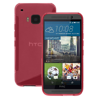 HTC One M9/ HTC One Hima/ One M9s: Accessoire Housse Etui Pochette Coque S silicone gel - ROSE