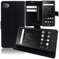 """BlackBerry Motion 5.5"""": Accessoire Etui portefeuille Livre Housse Coque Pochette support vidéo cuir PU - NOIR"""