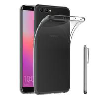 """Huawei Honor View 10 5.99""""/ Honor V10: Accessoire Housse Etui Coque gel UltraSlim et Ajustement parfait + Stylet - TRANSPARENT"""