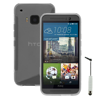 HTC One M9/ HTC One Hima/ One M9s: Accessoire Housse Etui Pochette Coque S silicone gel + mini Stylet - TRANSPARENT