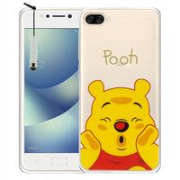 "Asus Zenfone 4 Max ZC520KL 5.2"" (non compatible Zenfone 4 Max ZC554KL 5.5""): Coque Housse silicone TPU Transparente Ultra-Fine Dessin animé jolie + mini Stylet - Winnie the Pooh"