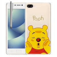 """Asus Zenfone 4 Max ZC520KL 5.2"""" (non compatible Zenfone 4 Max ZC554KL 5.5""""): Coque Housse silicone TPU Transparente Ultra-Fine Dessin animé jolie + Stylet - Winnie the Pooh"""