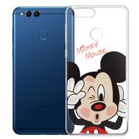 "Huawei Honor 7X 5.93"" BND-L21/ L22/ L24/ AL10/ TL10: Coque Housse silicone TPU Transparente Ultra-Fine Dessin animé jolie - Mickey Mouse"