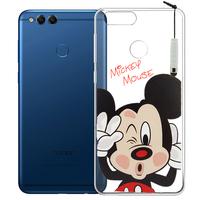 "Huawei Honor 7X 5.93"" BND-L21/ L22/ L24/ AL10/ TL10: Coque Housse silicone TPU Transparente Ultra-Fine Dessin animé jolie + mini Stylet - Mickey Mouse"