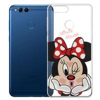 """Huawei Honor 7X 5.93"""" BND-L21/ L22/ L24/ AL10/ TL10: Coque Housse silicone TPU Transparente Ultra-Fine Dessin animé jolie - Minnie"""