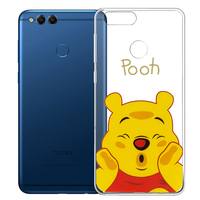 "Huawei Honor 7X 5.93"" BND-L21/ L22/ L24/ AL10/ TL10: Coque Housse silicone TPU Transparente Ultra-Fine Dessin animé jolie - Winnie the Pooh"