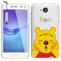 "Huawei Y6 (2017) 5.0"": Coque Housse silicone TPU Transparente Ultra-Fine Dessin animé jolie + mini Stylet - Winnie the Pooh"