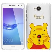 Huawei Y5 (2017)/ Y5 III/ Y5 3/ Nova Young: Coque Housse silicone TPU Transparente Ultra-Fine Dessin animé jolie - Winnie the Pooh
