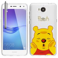 Huawei Y5 (2017)/ Y5 III/ Y5 3/ Nova Young: Coque Housse silicone TPU Transparente Ultra-Fine Dessin animé jolie + Stylet - Winnie the Pooh