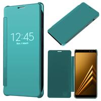 "Samsung Galaxy A8 (2018) A530F 5.6""/ A8 (2018) Duos A530F/DS: Coque Silicone gel rigide Livre rabat - BLEU"