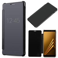 "Samsung Galaxy A8 (2018) A530F 5.6""/ A8 (2018) Duos A530F/DS: Coque Silicone gel rigide Livre rabat - NOIR"