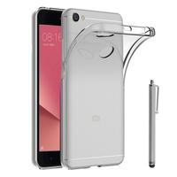 """Xiaomi Redmi Note 5A 5.5"""": Accessoire Housse Etui Coque gel UltraSlim et Ajustement parfait + Stylet - TRANSPARENT"""