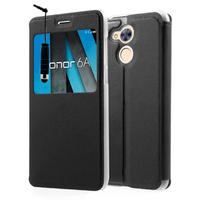 "Huawei Honor 6A 5.0"": Etui View Case Flip Folio Leather cover + mini Stylet - NOIR"