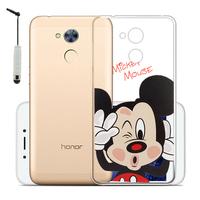 "Huawei Honor 6A 5.0"": Coque Housse silicone TPU Transparente Ultra-Fine Dessin animé jolie + mini Stylet - Mickey Mouse"