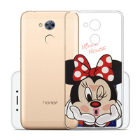 "Huawei Honor 6A 5.0"": Coque Housse silicone TPU Transparente Ultra-Fine Dessin animé jolie - Minnie Mouse"