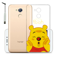 "Huawei Honor 6A 5.0"": Coque Housse silicone TPU Transparente Ultra-Fine Dessin animé jolie + mini Stylet - Winnie the Pooh"