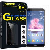 """Huawei P smart 5.65""""/ Enjoy 7S FIG-LX1/ LA1/ LX2/ LX3: Lot / Pack de 2 Films de protection d'écran Verre Trempé"""