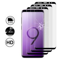"""Samsung Galaxy S9 5.8"""": Lot/ Pack de 3 Films en Verre Trempé Bord Incurvé Resistant"""
