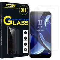 """HomTom S16 4G 5.5"""" [Les Dimensions EXACTES du telephone: 151.5 x 71 x 8.9 mm]: Lot / Pack de 2 Films de protection d'écran Verre Trempé"""