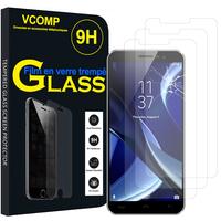 """HomTom S16 4G 5.5"""" [Les Dimensions EXACTES du telephone: 151.5 x 71 x 8.9 mm]: Lot / Pack de 3 Films de protection d'écran Verre Trempé"""