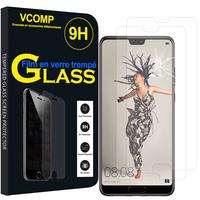 """Huawei P20 5.8"""" (non compatible Huawei P20 Pro/ P20 lite): Lot / Pack de 2 Films de protection d'écran Verre Trempé"""