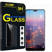 """Huawei P20 Pro 6.1"""" (non compatible Huawei P20/ P20 Lite): Lot / Pack de 2 Films de protection d'écran Verre Trempé"""