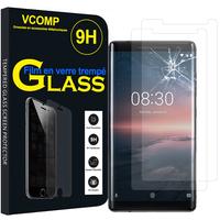 """Nokia 8 Sirocco 5.5"""" (non compatible Nokia 8 5.3""""): Lot / Pack de 2 Films de protection d'écran Verre Trempé"""