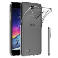 """LG K8 (2017) 5.0"""" M200N/ X240/ US215: Accessoire Housse Etui Coque gel UltraSlim et Ajustement parfait + Stylet - TRANSPARENT"""
