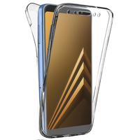 """Samsung Galaxy A8 (2018) A530F 5.6""""/ A8 (2018) Duos A530F/DS: Coque Housse Silicone Gel TRANSPARENTE ultra mince 360° protection intégrale Avant et Arrière - TRANSPARENT"""