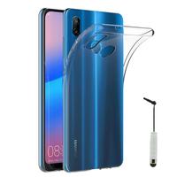 """Huawei P20 Lite/ Nova 3e 5.84"""" (non compatible Huawei P20/ P20 Pro): Accessoire Housse Etui Coque gel UltraSlim et Ajustement parfait + mini Stylet - TRANSPARENT"""