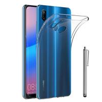 """Huawei P20 Lite/ Nova 3e 5.84"""" (non compatible Huawei P20/ P20 Pro): Accessoire Housse Etui Coque gel UltraSlim et Ajustement parfait + Stylet - TRANSPARENT"""