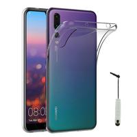 """Huawei P20 Pro 6.1"""" (non compatible Huawei P20/ P20 Lite): Accessoire Housse Etui Coque gel UltraSlim et Ajustement parfait + mini Stylet - TRANSPARENT"""