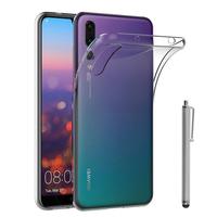 """Huawei P20 Pro 6.1"""" (non compatible Huawei P20/ P20 Lite): Accessoire Housse Etui Coque gel UltraSlim et Ajustement parfait + Stylet - TRANSPARENT"""
