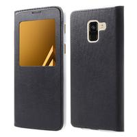 "Samsung Galaxy A8 (2018) A530F 5.6""/ A8 (2018) Duos A530F/DS: Etui View Case Flip Folio Leather cover - NOIR"