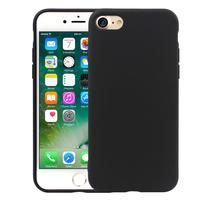 """Apple iPhone 7 4.7"""" (non compatible iPhone 7 Plus 5.5''): Coque TPU silicone mat souple ultra-fine dos couverture - NOIR"""
