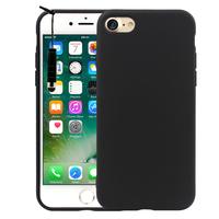 "Apple iPhone 7 4.7"" (non compatible iPhone 7 Plus 5.5''): Coque TPU silicone mat souple ultra-fine dos couverture + mini Stylet - NOIR"