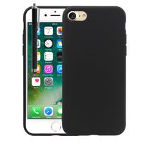 "Apple iPhone 7 4.7"" (non compatible iPhone 7 Plus 5.5''): Coque TPU silicone mat souple ultra-fine dos couverture + Stylet - NOIR"