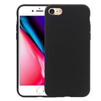 "Apple iPhone 8 4.7"": Coque TPU silicone mat souple ultra-fine dos couverture - NOIR"