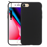 "Apple iPhone 8 4.7"": Coque TPU silicone mat souple ultra-fine dos couverture + mini Stylet - NOIR"