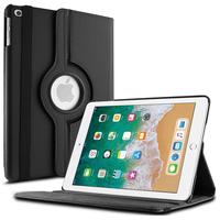 Apple iPad 9.7 (2018): Accessoire Etui Housse Coque avec support Et Rotative Rotation 360° en cuir PU - NOIR