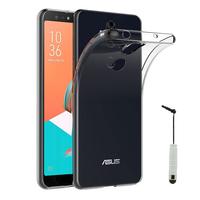 """Asus Zenfone 5 Lite ZC600KL 6.0"""" (2018): Accessoire Housse Etui Coque gel UltraSlim et Ajustement parfait + mini Stylet - TRANSPARENT"""
