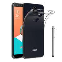"""Asus Zenfone 5 Lite ZC600KL 6.0"""" (2018): Accessoire Housse Etui Coque gel UltraSlim et Ajustement parfait + Stylet - TRANSPARENT"""