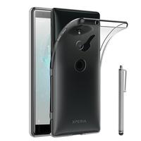 """Sony Xperia XZ2 5.7"""" H8216 H8266 H8296 (Sony PF22) (non compatible Xperia XZ2 Compact 5.0""""): Accessoire Housse Etui Coque gel UltraSlim et Ajustement parfait + Stylet - TRANSPARENT"""