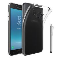 """Samsung Galaxy J2 Pro (2018) SM-J250F/ Galaxy Grand Prime Pro (2018) 5.0"""": Accessoire Housse Etui Coque gel UltraSlim et Ajustement parfait + Stylet - TRANSPARENT"""